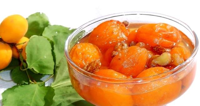 Варенье из абрикосов без косточек на зиму с орехами