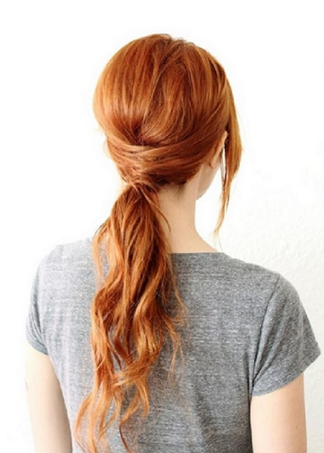 фото прически на средние волосы &quot,хвост с плетением&quot,