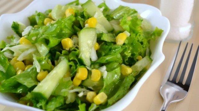 Овощные салаты рецепты с фото простые и вкусные: с огурцом и кукурузой