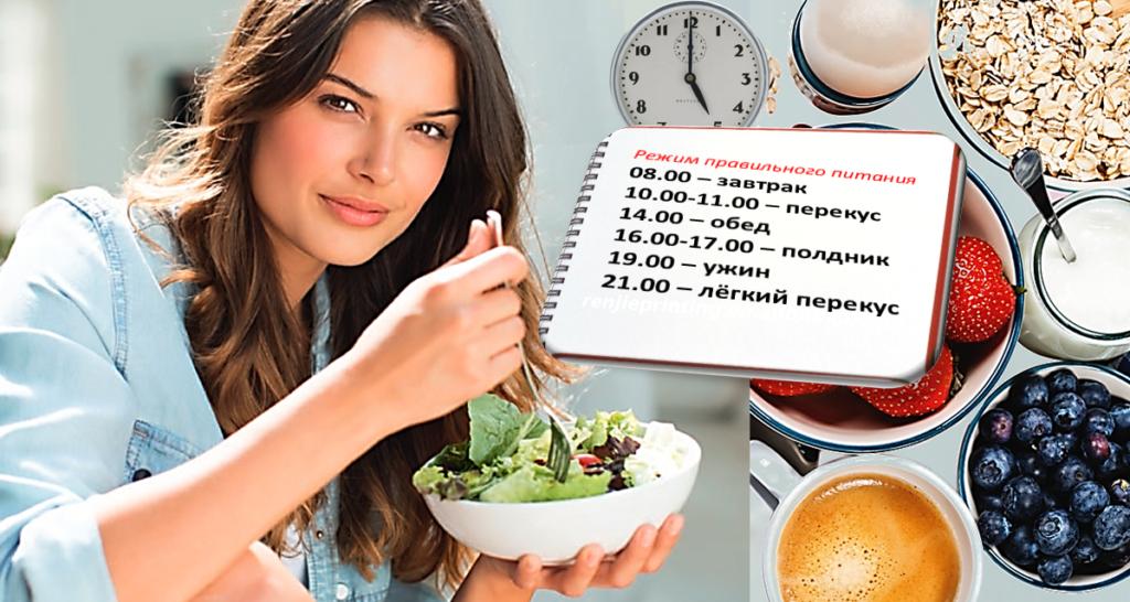 Варианты меню правильного питания