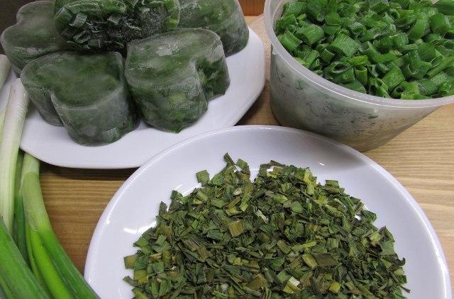 Зеленый лук заготовка на зиму